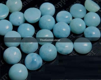 10 Pieces 5mm Larimar cabochon round gemstone AAA+ quality natural Larimar round cabochon loose gemstone Larimar cabochon