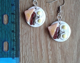 Breakfast Platter Earrings