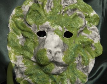 Venetian-Style Mossy Lion Mask