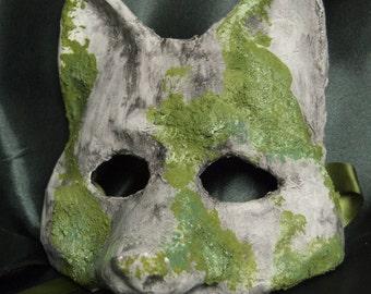Venetian-Style Mossy Fox Mask