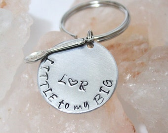 Little Spoon Key Chain, Gift for Him, Gift for Girlfriend, Big Spoon Little Spoon, Personalized