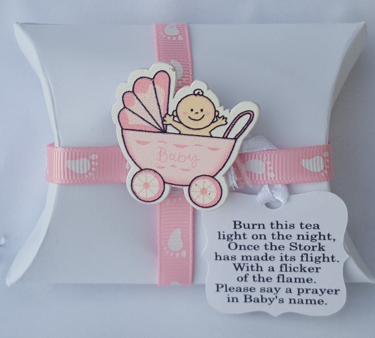 10 Baby shower gender reveal party pillow box favours with