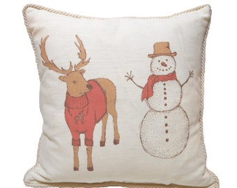 Reindeer and Snowman