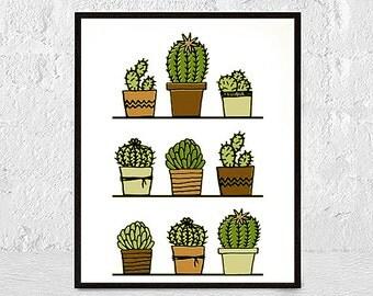 Cactus Art, Cacti Print, Cactus Poster, Cactus Photography, Cactus Wall Art, Cactus Print, Cactus Decor, Cactus Printable, Succulent Print