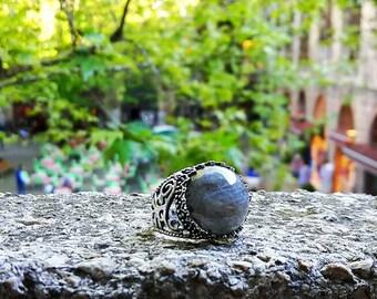 handmade labradorite ring Stones 925K silver