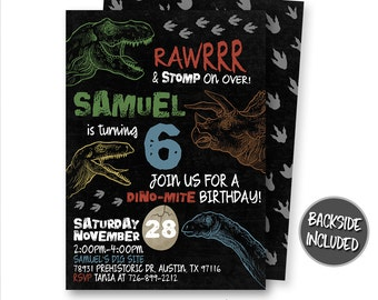 Dinosaur Invitation, Dinosaur Birthday Invitation, Dinosaur Invitations, Dinosaur Party, Printables, Personalized, T-Rex Invitations
