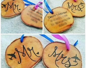 Wood luggage tags  (set of 2)