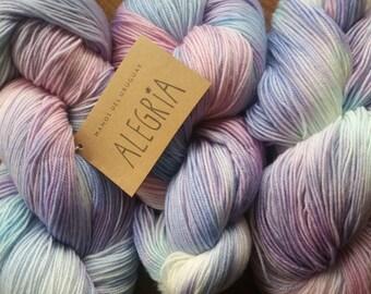 Colour Jacaranda: Alegria Manos del Uruguay, 4ply, hand painted, fair trade, art yarn, women's collectives, craft gift idea