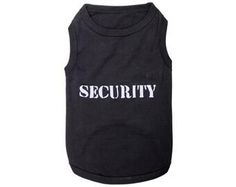Security Dog T-Shirt, Dog Clothes, Pet Shirts