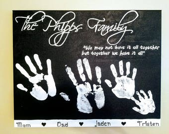 Personalized Handprint Canvas