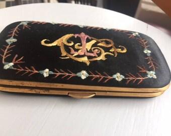 Silk and metal cigarette case