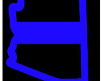 Arizona thin blue line police officer leo vinyl sticker decal