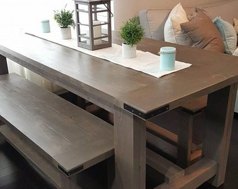 Brairsmoke Farmhouse Table w/ 2 Benches