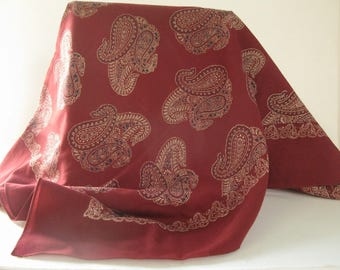 1960's English wool paisley scarf