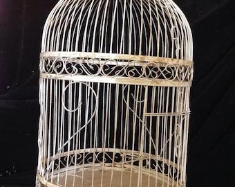 Large Vintage Metal Bird Cage