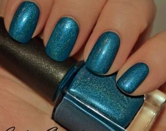 Bourbon Blues - Turquoise Blue Holographic Nail Polish