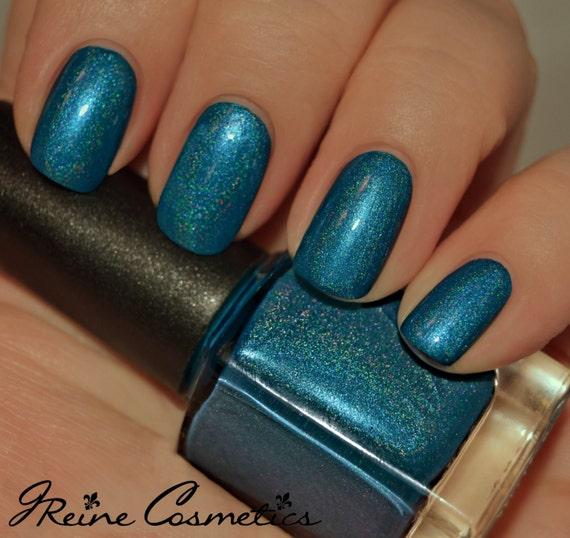 Turquoise Blue Holographic Nail Polish
