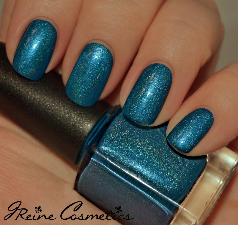 Bourbon Blues Turquoise Blue Holographic Nail Polish