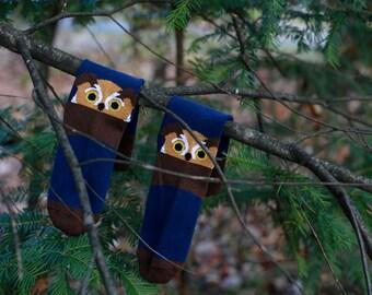 Owl dress socks