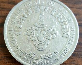 Vintage Circus Circus Gaming Coin