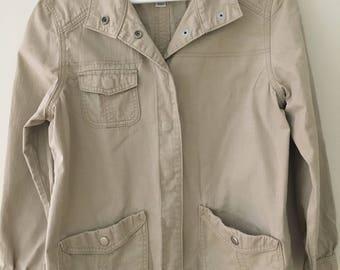 Vintage Women's Quality Levis San Francisco Women's khaki light weight unlined jacket size large.