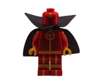 Custom LEGO minifigures - Red Tornado Made with Original LEGO Parts