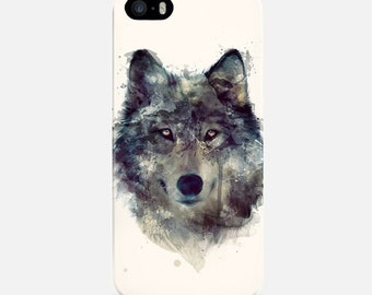 Wolf Phone Case, Watercolor iPhone Case, iPhone 6 Case, iPhone 6 Plus Case White, iPhone 7 Case, iPhone 7 Plus Case, iPhone 5s Case