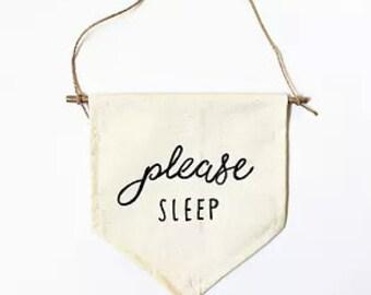 Please Sleep Banner