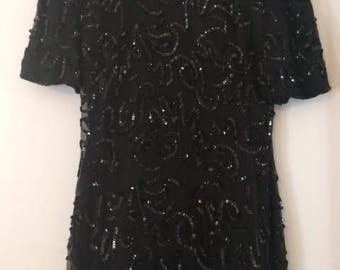 Black Sequin Dress by American Night