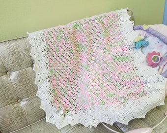 Isn't She Lovely Blanket - Handmade Crotche Baby Blanket