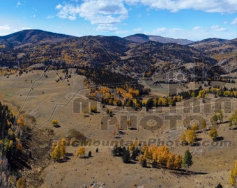 Victor Colorado Mining Town Fall Colors Panoramic Canvas Print
