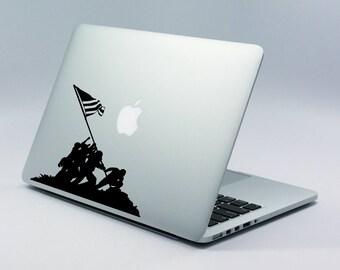Raising the Flag Iwo Jima Laptop Skin | MacBook Pro | iPad | Lenovo | Dell | vinyl decal sticker