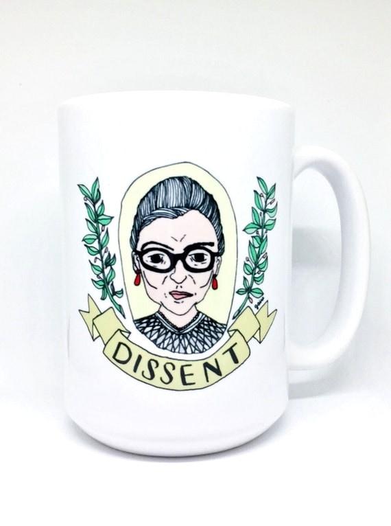 15 oz Mug | Ruth Bader Ginsburg | DISSENT