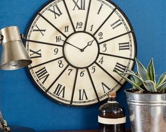 Douglas Industrial vintage style metal clock