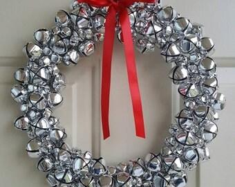 Jingle Bell Wreath   Christmas Wreath   Holiday Wreath   Silver Wreath   Bell Wreath   Winter Wreath