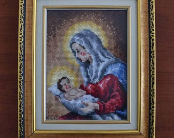 Saint Mary and little Jesus