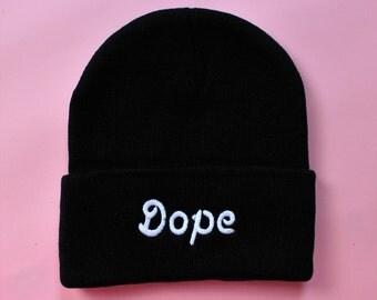 dope beanie - black