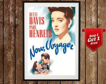 Now Voyager Movie Poster- Bette Davis, Old Cinema, Movie Ad Posters, Old Movie Prints, Old Movie Star Posters,Movie Artwork Posters