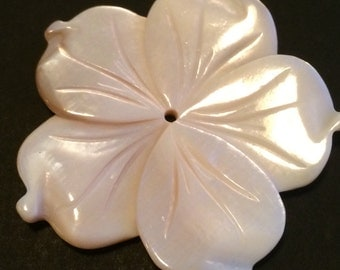 Hold for Tresa-Mother of Pearl Flower Focal Bead