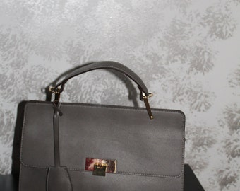 Green leather Satchel bag