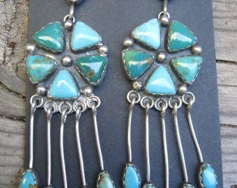 Vintage Native American Earrings-RESERVED for Jacqui