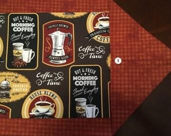 "Coffee Theme Table Runner 12"" x 41-1/2"""