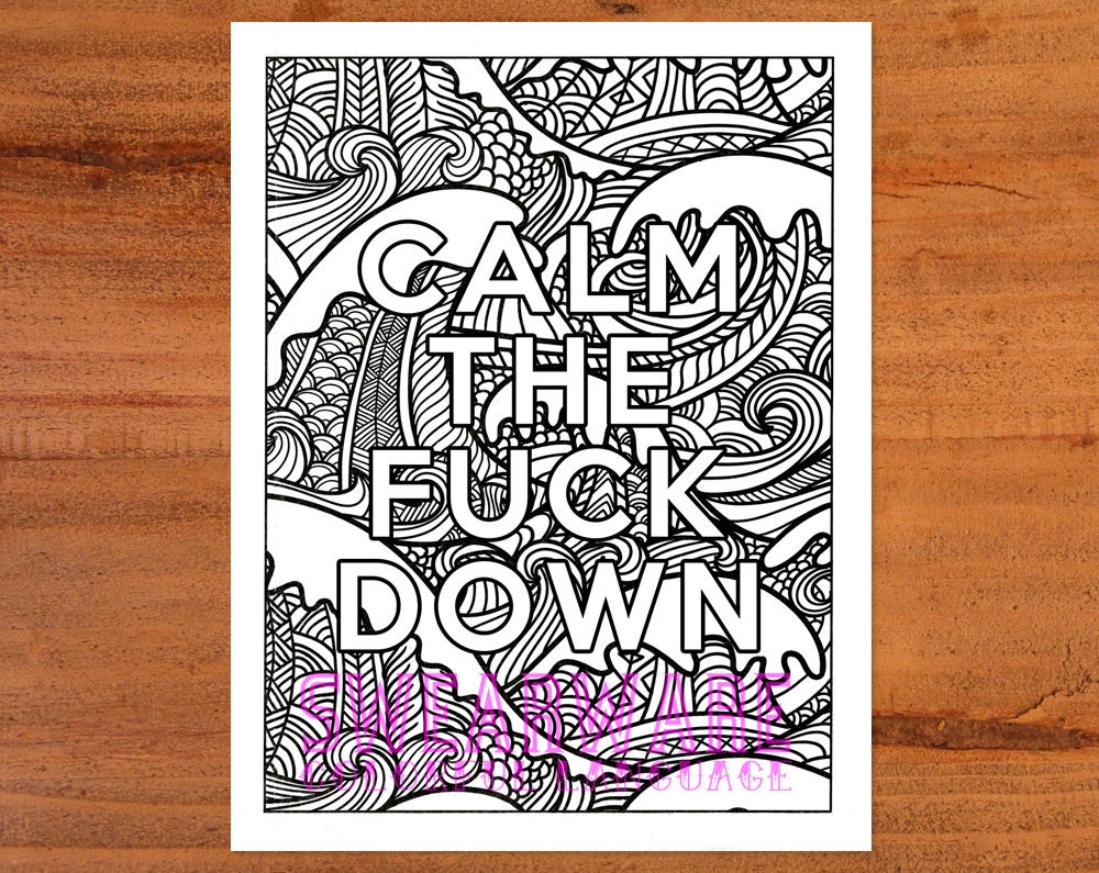 Swear word coloring pages etsy -  Zoom