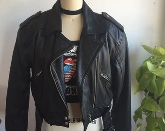 Amazing 1990s genuine leather motorcycle jacket
