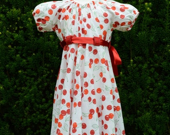 Petticoat dress size 122/128 cherry Rockabilly