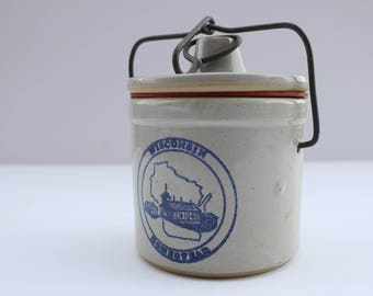 Wisconsin Homestead Ceramic Container