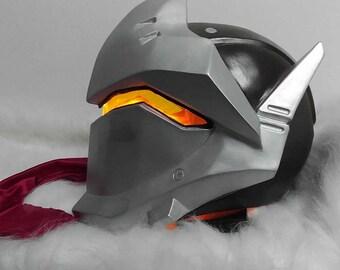 Genji Helmet Mask Cosplay With LED Ligth Lamp