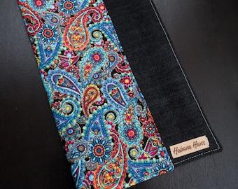 Paisely / Black Denim Handkerchief
