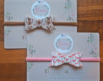 BUNNY & FLAMINGO Bows Baby Headband Set, Baby Bow Headband, Newborn Headband, Infant Headband, Baby Girl Headband, Soft Nylon Headbands