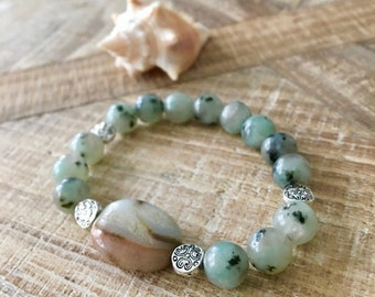 Resort Agate Amazonite Stretch Bracelet